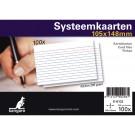 Systeemkaarten 75x105mm (A7) wit; 100 stuks