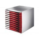 Ladenkastje Leitz 5281 A4 rood 10-lades