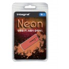 USB-stick USB 2.0 Integral 16GB Neon Oranje