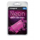 USB-stick USB 2.0 Integral 16GB Neon Roze