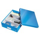 Opbergbox Leitz Click & Store 280x100x370mm Blauw