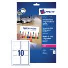 Visitekaart Avery C32026-25 Laser 2-Zijdig 270gr