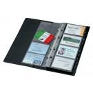 Visitekaartenringband Sigel VZ300 voor 200 kaarten zwart