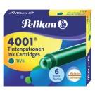 Inktpatronen Pelikan TP6 donkergroen; dsj a 6st