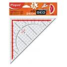 Geodriehoek Maped 028700 260mm 45 graden transparant