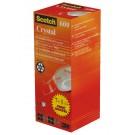 Plakband Scotch 600 19mmx33m Crystal Clear 7+1 gratis