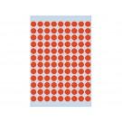 Etiket Herma 1842 8mm rond rood; pkje 540st