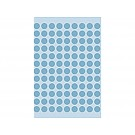 Etiket Herma 1843 8mm blauw rond; pkje