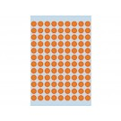 Etiket Herma 1844 8mm rond fluororanje;pk 540st