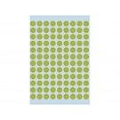 Etiket Herma 1848 8mm rond fluorgroen; pkj 540st