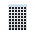 Etiket Herma 1869 12mm rond zwart;pkj 240st