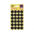Etiket Avery Zweckform 3003 rond 18mm zwart 96stuk