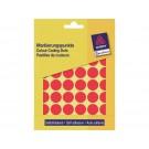 Etiket Avery Zweckform 3374 rond 18mm rood 1056stu