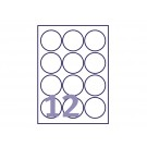 Etiket Avery L7630-25 63.5mm rond wit 300stuks