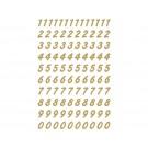 Etiket Herma 4151 Getallen 0-9 200st Gd/Transparant