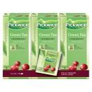 Thee Pickwick Groene Cranberry thee, 3 ds 25 zakje