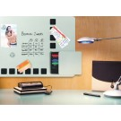 Duobord Rexel 61x39cm Zilver Gelakt/Kurk