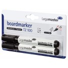 Whitebordstift Lega TZ-100 zwart; BLISTER 2stuks