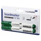 Whiteboardstift Lega TZ-100 groen; BLISTER 2stuks