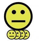 Magneet Smiley 5cm Emotie Neutraal Geel pk