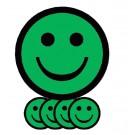 Magneet Smiley 5cm Emotie Blij Groen
