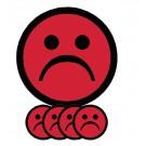 Magneet Smiley 5cm Emotie Bedroefd Rood