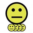 Magneet TNP Smiley 2.5cm Emotie Neutraal Geel pk