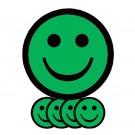 Magneet TnP Smiley 2.5cm Emotie Neutraal Groen pk