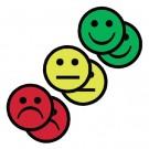 Magneet Tnp Smiley 2.5cm 2x Geel 2x Groen 2x Rood