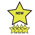 Magneet Ster Opdruk Nieuw Geel