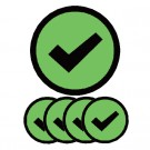 Magneet TNP Check 3cm Groen pk