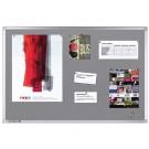 Bulletinbord Lega Proline kurklinol 60x90cm grijs