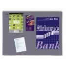 Prikbord textiel 90x120 trendline grijs