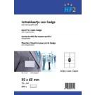 Badgekaart HF2 95mmx65mm 180gr Wit 200 stuks