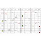 Jaarplanner Lega Noticeline 60x90cm maand vertic.